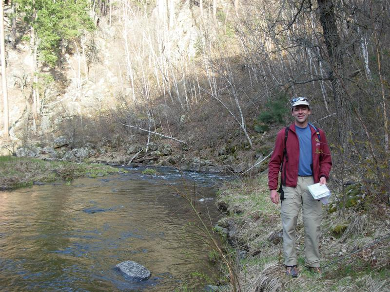 Photo of Gordon at French Creek.