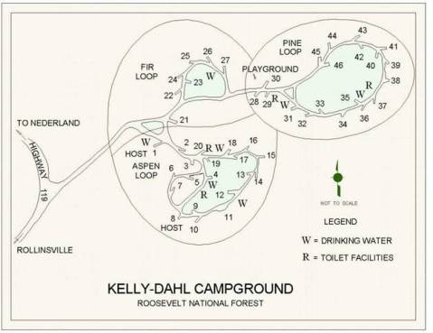 Campground map.